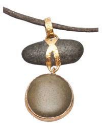 Lou Zeldis Green Pebble Necklace