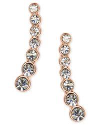 Anne Klein - Metallic Linear Crystal Ear Cuff Earrings - Lyst