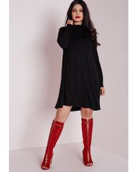 Missguided | Plus Size Jersey Swing Dress Black | Lyst