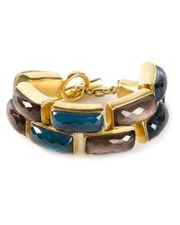 Vaubel - Blue Faceted Stone Bracelet - Lyst