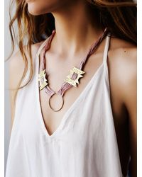 Free People | Pink Luna Sol Womens Tonopah Necklace | Lyst