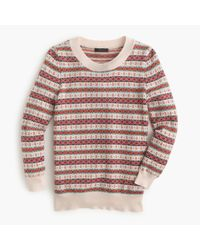 J.Crew | Brown Tippi Sweater In Fair Isle | Lyst