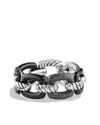 David Yurman | Metallic Midnight Mélange Cushion Link Bracelet with Diamonds | Lyst