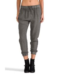 Enza Costa | French Linen Lounge Pant in Gray | Lyst