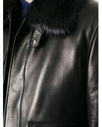 Ferragamo Black Lambskin Jacket for men