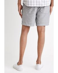 Forever 21 Gray Cotton Drawstring Shorts for men