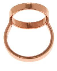 Monica Vinader Metallic Rose Gold-plated Diamond Naida Circle Open Ring