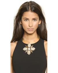 Tory Burch - Metallic Lia Collar Necklace - Taupe Multi/Aged Gold - Lyst