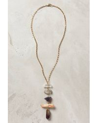 Anthropologie | Metallic Quartz Ladder Necklace | Lyst