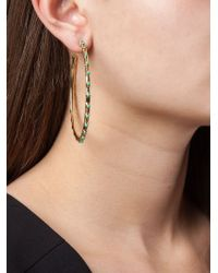 Aurelie Bidermann - Metallic 'wapiti' Hoop Earrings - Lyst