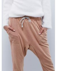 Free People - Brown Going Places Jogger - Lyst