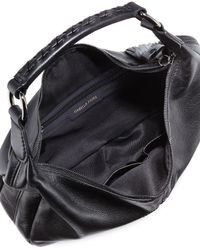 Isabella Fiore - Black Bellmore Studded Leather Hobo Bag - Lyst