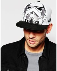 ASOS - Black Star Wars Snapback Cap In White Monochrome for Men - Lyst