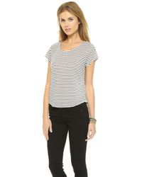 The Lady & The Sailor Blue Cropped Tee - Navy Stripe