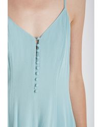 Forever 21 Green Buttoned-front Romper