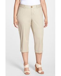 Sejour - Natural 'addison' Stretch Crop Pants - Lyst