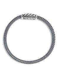 David Yurman Chevron Bracelet In Gray for men