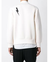 Neil Barrett | Natural Zeus Print Sweater for Men | Lyst