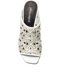 Jeffrey Campbell White Druid Leather Mules