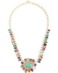 "Irene Neuwirth | Multicolor 18kt Gold And Mixed Gem 18"" Necklace 