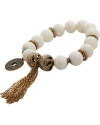 Carole Shashona - White Black Diamond Camel Bone Empower Bracelet - Lyst