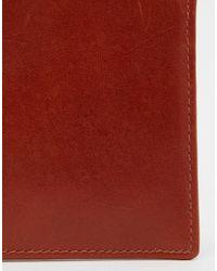 Racing Green Brown Bi Fold Leather Wallet In Tan for men