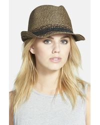 Hinge | Metallic Mixed Weave Trilby Hat | Lyst