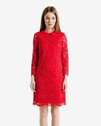Ted Baker - Red Ameera Scalloped Hem Lace Dress - Lyst