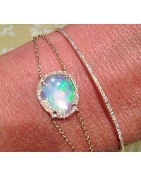 Anne Sisteron Pink 14kt Rose Gold Opal Diamond Bracelet