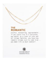 Dogeared | Metallic The Romantic 3mm White Cultured Pearl Double Chain Necklace | Lyst
