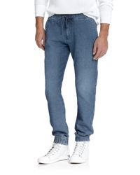 7 For All Mankind - Blue Sportif Sweatpants for Men - Lyst