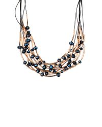 AKIRA | Electric Blue Cosmo Necklace & Earring Set | Lyst