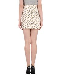 Mauro Grifoni - White Denim Skirt - Lyst