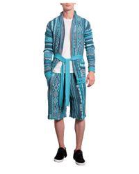 Laneus - Blue Cotton Jacquard Shorts for Men - Lyst