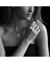 David Yurman | Metallic Albion Pendant With Diamonds, 14mm Gemstone | Lyst