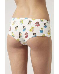 TOPSHOP - Natural Disney Princess Boypants - Lyst
