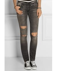 Frayed Mid-rise Flared Jeans - Gray R13 r6bHb
