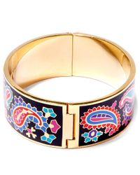 Liberty - Black Denby Paisley Multicolour Thick Cuff - Lyst