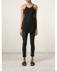 Lost and Found Rooms - Black Racer Back Tank Top - Lyst