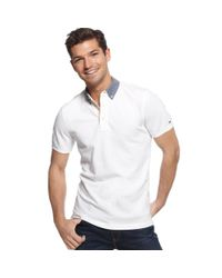 Tommy Hilfiger White Dexter Polo Shirt for men