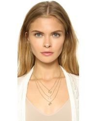 Tory Burch Metallic Leather Woven Chain Necklace Goldgolden
