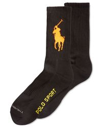 Polo Ralph Lauren | Black Men's Polo Sport Crew Socks for Men | Lyst