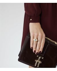 Reiss - Metallic Liora Ring With Crystals From Swarovski - Lyst