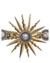 Fausto Puglisi | Metallic Sun Studded Nappa Leather Bracelet | Lyst