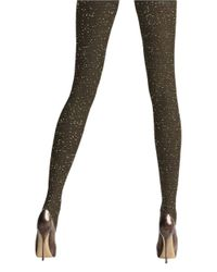 Via Spiga | Brown Gleamer Shimmer Tights | Lyst