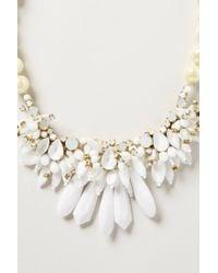 Rada' - White Snowfall Bib Necklace - Lyst