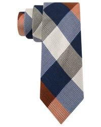 Tommy Hilfiger Red Texture Buffalo Slim Tie for men