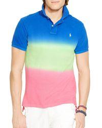 Ralph Lauren Multicolor Polo Custom Fit Dip Dyed Polo Shirt - Slim Fit for men