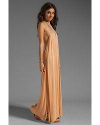 Acacia Swimwear Orange Positano Crochet Maxi Dress
