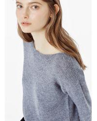 Mango | Gray Wool-blend Knit Sweater | Lyst